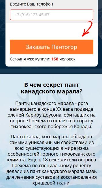 Гель для коленного сустава пантогор Дзержинский